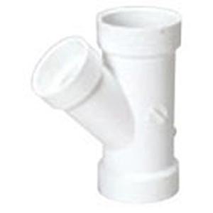 "2"" x 2"" x 1 ½"" Hub PVC DWV Reducing Sanitary Wye"