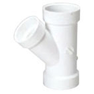 "3"" x 3"" x 1 ½"" Hub PVC DWV Reducing Sanitary Wye"