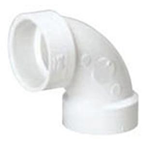 """1 ½"""" Hub PVC DWV Straight 90 Degree Sanitary Elbow"""
