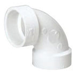 "4"" Hub PVC DWV Straight 90 Degree Sanitary Elbow"