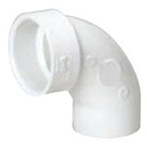 "1 ½"" Spigot x Hub PVC DWV Street Straight 90 Degree Sanitary Elbow"