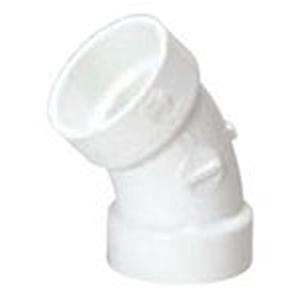 """1 ½"""" Hub PVC DWV Straight 45 Degree Sanitary Elbow"""