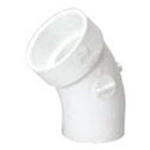 "2"" Spigot x Hub PVC DWV Street Straight 45 Degree Sanitary Elbow"