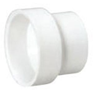 "2"" x 1 ½"" Hub PVC DWV Reducing Sanitary Coupling"