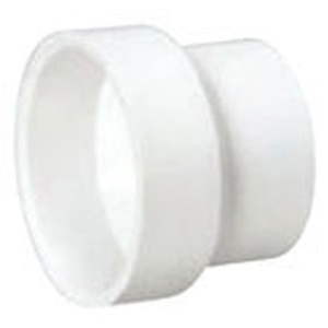 "4"" x 3"" Hub PVC DWV Reducing Sanitary Coupling"