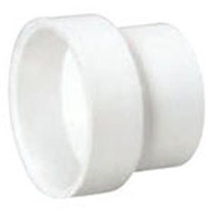 "6"" x 4"" Hub PVC DWV Reducing Sanitary Coupling"