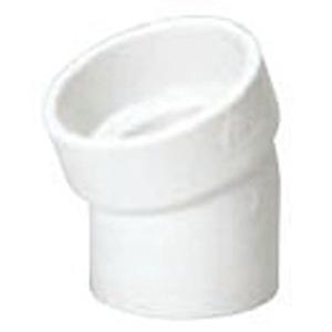 "4"" Spigot x Hub PVC DWV Street Straight 22.5 Degree Sanitary Elbow"