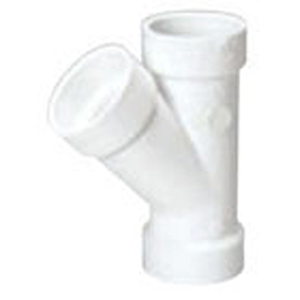 "6"" Hub PVC DWV Straight Sanitary Wye"