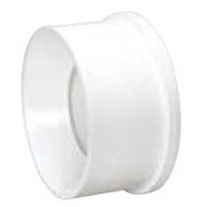 "6"" x 4"" Spigot x Hub PVC DWV Flange Reducing Sanitary Bushing With Tube Stop"