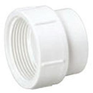 "6"" Spigot x FPT PVC DWV Cleanout Straight Sanitary Female Adapter"