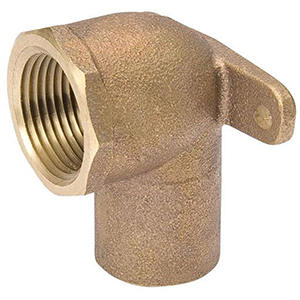 "¾"" C x FPT Cast Bronze Drop Ear 90 Degree Elbow Lead Free"