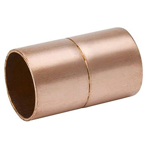 "2"" x 2"" C x C 700 PSI Lead free WROT Copper Rolled Stop Straight Coupling"
