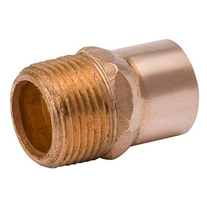 "½"" x ⅜"" C x MPT 700 PSI Lead free WROT Copper Reducing Male Adapter"