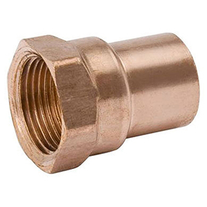 "½"" x ¼"" C x C  Lead free Wrot Copper Reducing Female Adapter"
