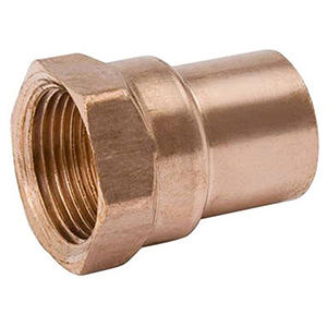 "1 ½"" x 1 ½"" C x C  Lead free Wrot Copper Straight Female Adapter"