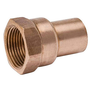 "¾"" x ¾"" FTG x FPT  Lead free Wrot Copper Straight Adapter"