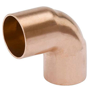 "1"" x 1"" C x C Lead free WROT Copper Short Radius Straight 90 Degree Elbow"
