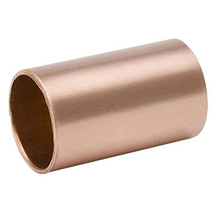 "¾"" x ¾"" C x C 700 PSI Lead free WROT Copper Straight Coupling Without Stop"