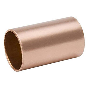 "1 ½"" x 1 ½"" C x C 700 PSI Lead free WROT Copper Straight Coupling Without Stop"