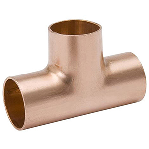 "¾"" x ¾"" x ¾"" C 700 PSI Lead free WROT Copper Straight Tee"