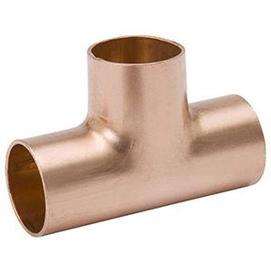 "1 ½"" x 1 ½"" x 1 ½"" C Lead free WROT Copper Straight Tee"