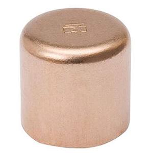 "¾"" C Lead free WROT Copper Round Head Flush Cap"