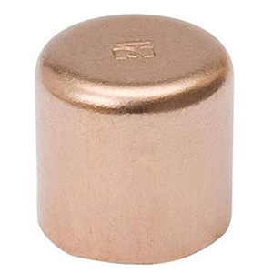 "1 ½"" C Lead free WROT Copper Round Head Flush Cap"