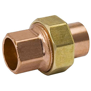 "1"" x 1"" C x C 700 PSI Lead free WROT Copper Straight Union"
