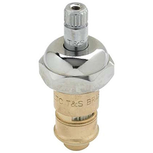 """3"""" L, 20 To 125 Psi, 7.66 Gpm, Lead-free, Chrome Plated Brass, 1/4 Turn, Cold, Left Hand, Cartridge With Bonnet For Manual Faucet"""