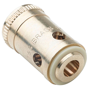"""7/8"""" X 1-9/16"""", Lead-free, Brass, Right Hand, Hot, Removable, Insert With Washer For B-6k/b-7k/b-8k/b-21k/b-23k Faucet Spindle"""