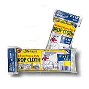 Drop Cloth 12' X 9', 6/10 Mil Thick, Clear, Medium Heavy Duty